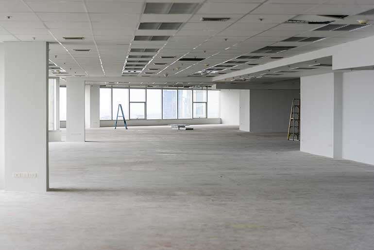newly constructed office space
